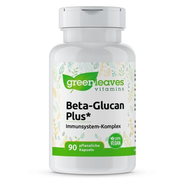 Beta-Glucan Plus Immunsystem-Komplex, enthält Zink & Vitamin C, die zur normalen Funktion des Immunsystems beitragen