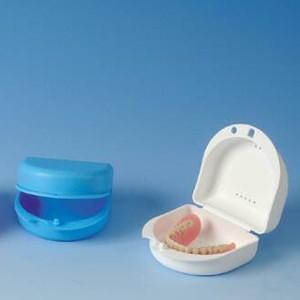 Dento Box für Prothesen und Zahnspangen-weiß
