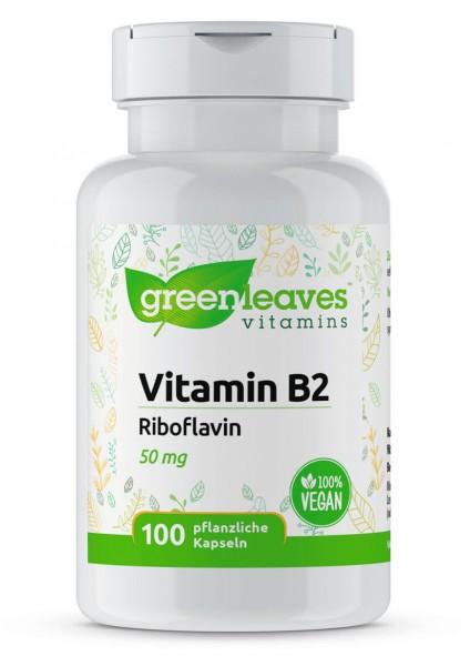Vitamin B2 50 mg Riboflavin von Greenleaves
