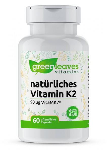 Vitamin K2, 90 mcg natürliches Vitamin Greenleaves