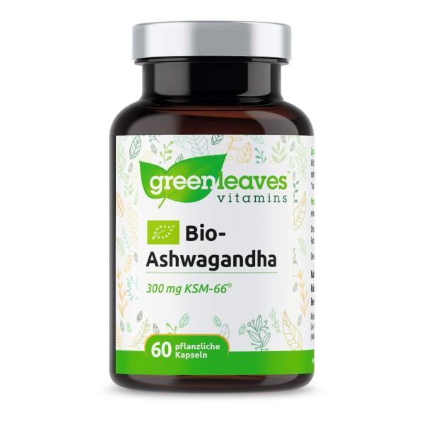 Bio-Ashwagandha 300 mg KSM-66® von Greenleaves