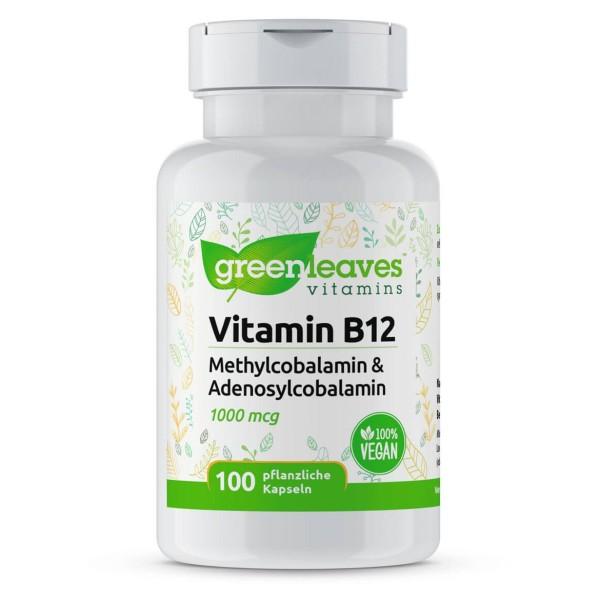 Vitamin B12 1000 mcg mit Methylcobalamin und Adenosylcobalamin